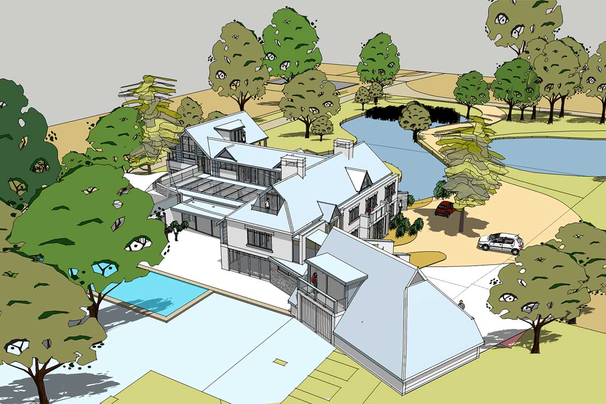 New Project – Stunning Oak Frame House With Swimming Pool